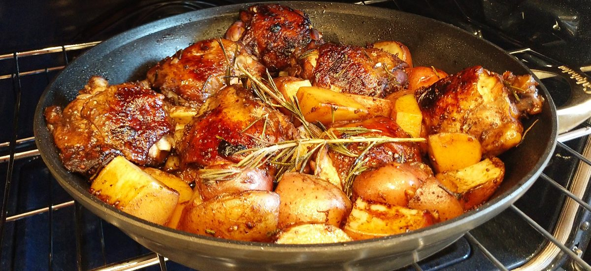 Balsamic Glazed Chicken w/ Red Potatoes and Rosemary