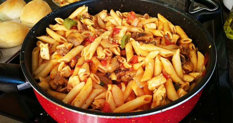 Italian Sausage & Chicken w/ Pepper Blend & Penne